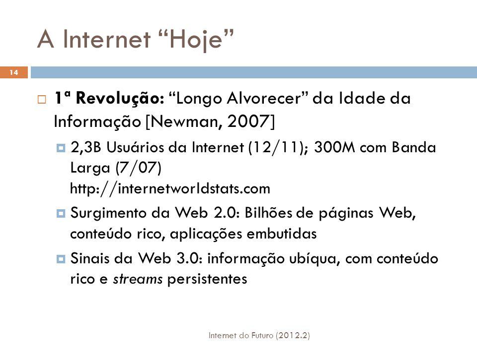 A Internet Hoje 1ª Revolução: Longo Alvorecer da Idade da Informação [Newman, 2007]